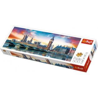 Puzzle 500el Panorama Big Ben i Pałac Westminsterski Londyn 29507 TREFL - TREFL
