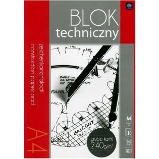 Blok techniczny A4/10K 240g...