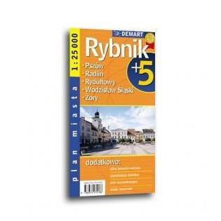 Plan miasta Rybnik +5 1:25...
