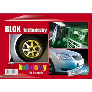 BLOK TECHNICZNY A4/10K KOL DELUX POLG A 10
