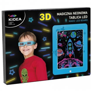 TABLICA 3D LED B/O 245X190 AKC NIEB DERF KID PUD