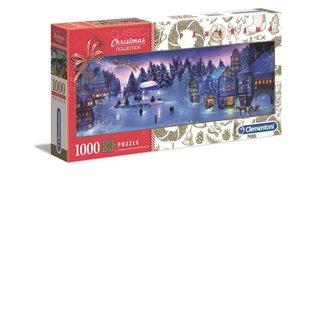 -PUZZLE 1000EL CLM 39582 PANORAMA CHRISTMAS PUD