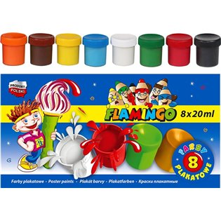 FARBY PLAK 8KOL 20ML FLAMINGO 299123 PUD