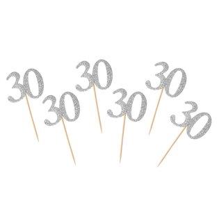 PIKERY URODZINOWE 30 SRE 100 GO OP6SZT PBH