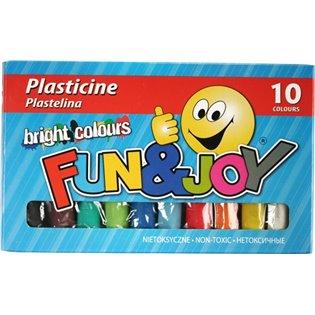 PLASTELINA 10KOL FUN&JOY 220438 WB