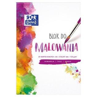 BLOK DO MALOWANIA A4/20K BIA OXF 120G A 20