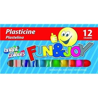 PLASTELINA 12KOL FUN&JOY 220440 WB