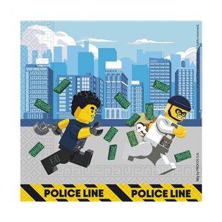 SERWETKA PAP 2WARST 330X330 GO LEGO CITY OP20SZT