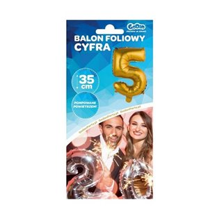 -BALON FOL 35CM 5 ZLO GO BC-AZL5 PBH