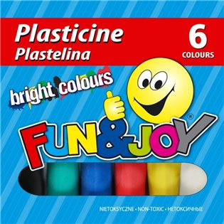 PLASTELINA 6KOL FUN&JOY 220437 WB