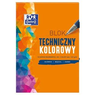 BLOK TECHNICZNY A4/10K KOL OXFORD 225G A 20