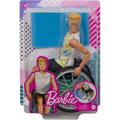 Barbie. Lalka ken na wózku...