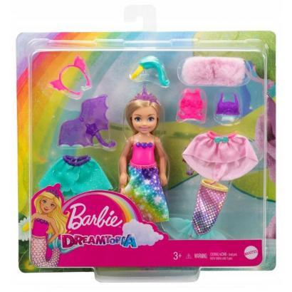 Barbie CHELSEA PRZEBIERANKI LALKA UBRANKA GTF40