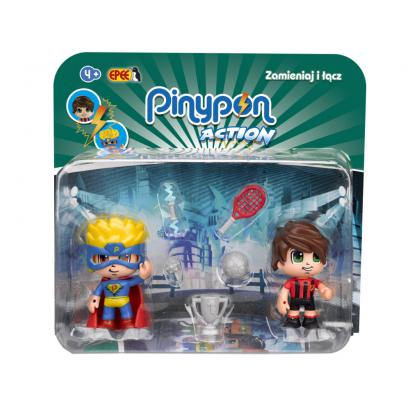 Figurki PinyPon Action 2pack Piłkarz Superbohater EPEE