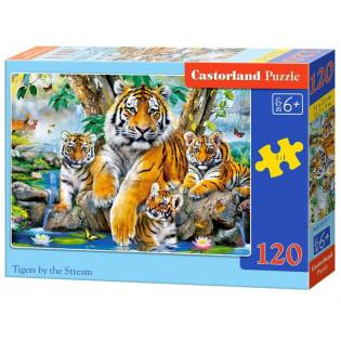 Puzzle 120 Tigers by the...