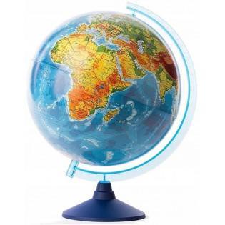 Globus 25cm z mapą fizyczną i polityczną i aplikacją